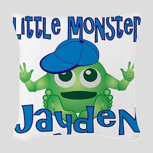 2-jayden-b-monster Woven Throw Pillow
