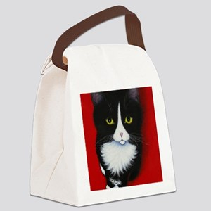harry kitten red Canvas Lunch Bag
