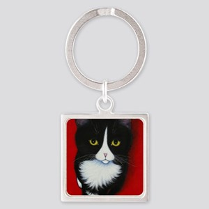 harry kitten red Square Keychain
