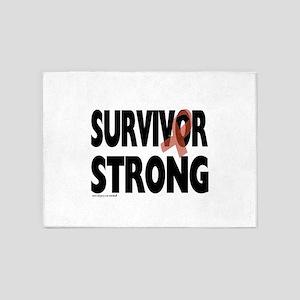 Survivor Strong 5'x7'Area Rug