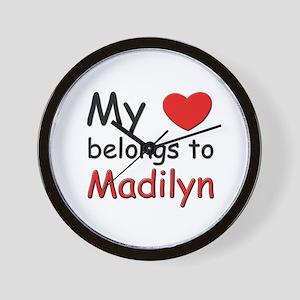 My heart belongs to madilyn Wall Clock