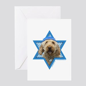 Hanukkah Star of David - Doodle Greeting Card