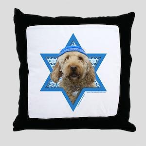 Hanukkah Star of David - Doodle Throw Pillow