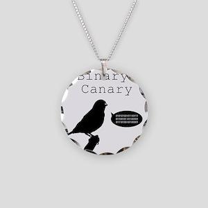 binarycanary Necklace Circle Charm