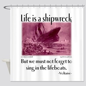 Sing in the Lifeboats Shower Curtain