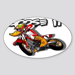 supermoto_front Sticker (Oval)