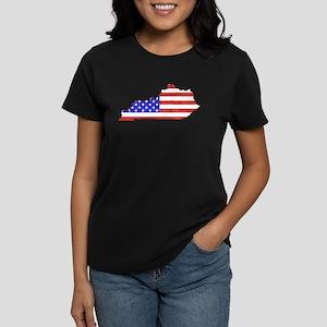 Kentucky Flag Women's Dark T-Shirt