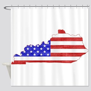 Kentucky Flag Shower Curtain