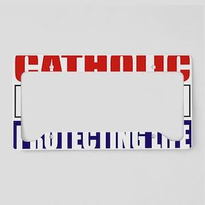 Catholic Republican (5x3) License Plate Holder