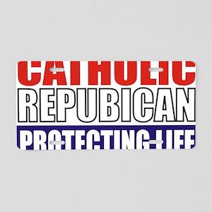 Catholic Republican (5x3) Aluminum License Plate