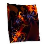 Eyes & Swirls Burlap Throw Pillow
