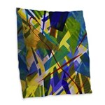 The City I Abstract Burlap Throw Pillow