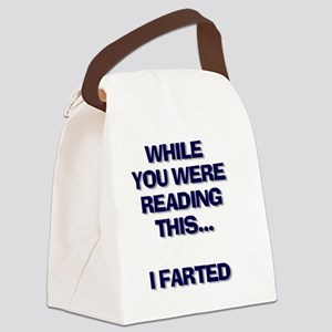 farted wait Canvas Lunch Bag