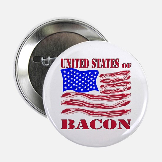 """United States Of Bacon 2.25"""" Button"""