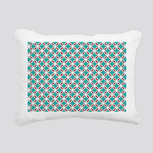 Mid Century Modern Retro Rectangular Canvas Pillow
