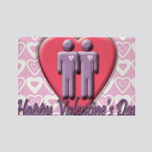 Notecard Happy VD 2 men Rectangle Magnet