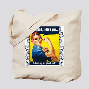 TouchMyStuff-rd Tote Bag