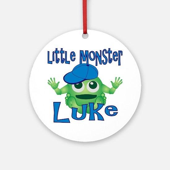 luke-b-monster Round Ornament