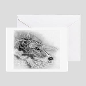 Lurcher Dog Greeting Cards