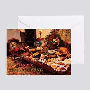 Thanksgiving Dinner Doxies 1 Greeting Card