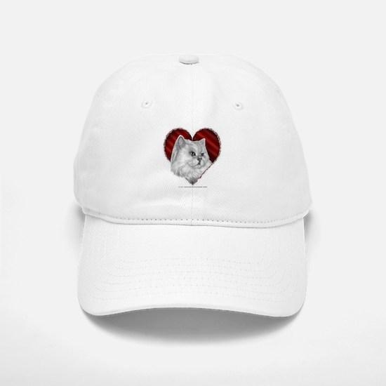 Persian Cat Heart Baseball Baseball Cap