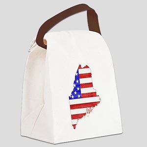 Maine Flag Canvas Lunch Bag