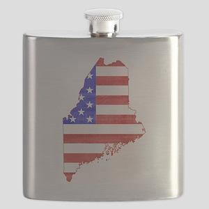 Maine Flag Flask