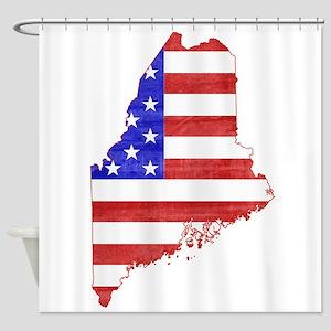 Maine Flag Shower Curtain