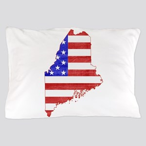 Maine Flag Pillow Case