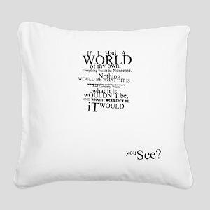 Alice in Wonderland Typographic Nonsense Square Ca