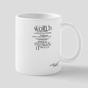 Alice in Wonderland Typographic Nonsense Mug