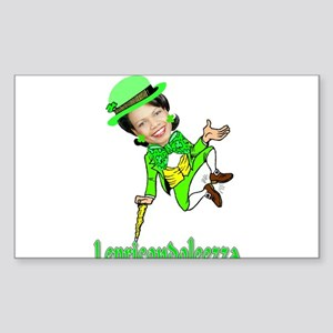 LepreCondoleezza Rectangle Sticker