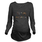 Team Migraine Long Sleeve Maternity T-Shirt