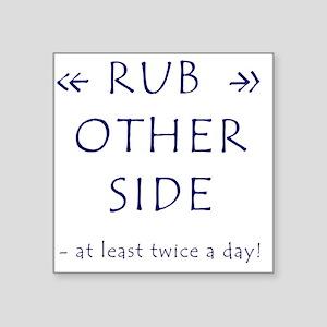 """Rub A Dub Dub Square Sticker 3"""" x 3"""""""