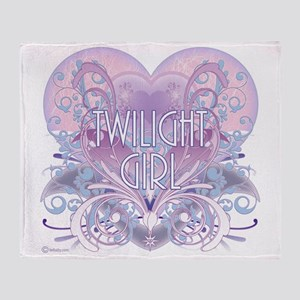 twilight girl fancy heart 2 Throw Blanket