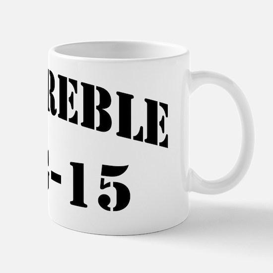 preble dlg black letters Mug