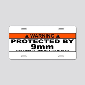 protected by 9mm Aluminum License Plate