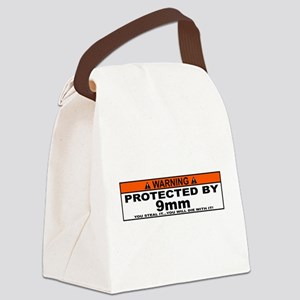 protected by 9mm Canvas Lunch Bag