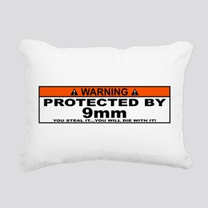 protected by 9mm Rectangular Canvas Pillow