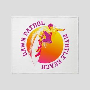 Dawn Patrol (Myrtle Beach) Throw Blanket
