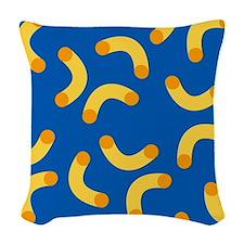 Mac N Cheese Woven Throw Pillow