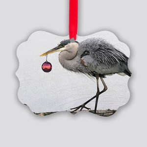 Christmas Heron Picture Ornament