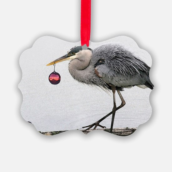Christmas Heron Ornament