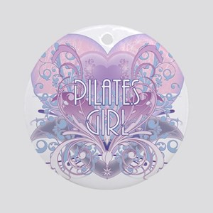 pilates girl Round Ornament