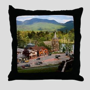 LakePlacidS FramedPanelPrint Throw Pillow