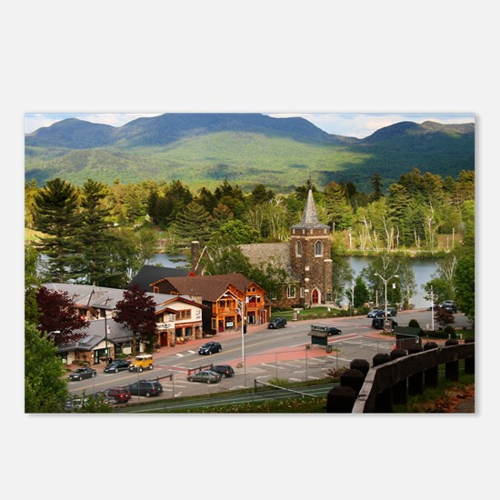 LakePlacidS FramedPanelPr Postcards (Package of 8)