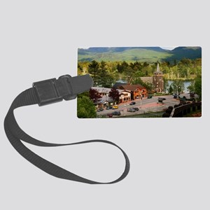 LakePlacidS LargeFramedPrint Large Luggage Tag