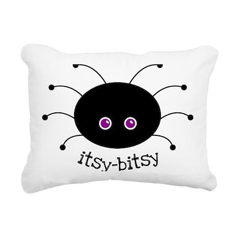 Itsy-Bitsy Spider Rectangular Canvas Pillow