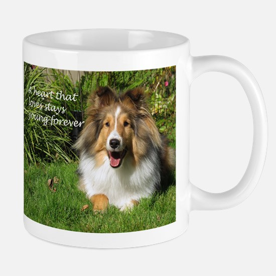 A heart that loves stays young forever Mugs