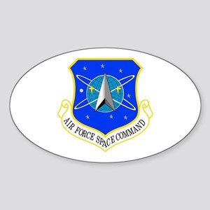 AF Space Command Oval Sticker
